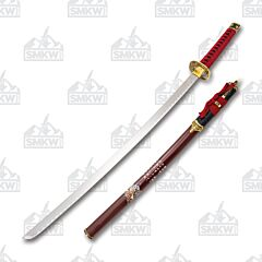 Master Cutlery SW-90 Samurai Sword Red