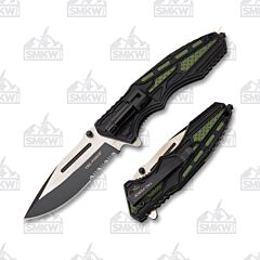 Master Cutlery Tac-Force LED Folder Green
