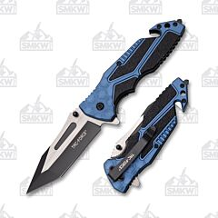 Master Cutlery Tac-Force Rescue Tanto Blue