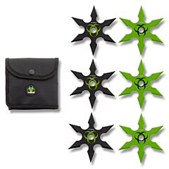 Z-Hunter 6 Piece Six-Point Throwing Star Set