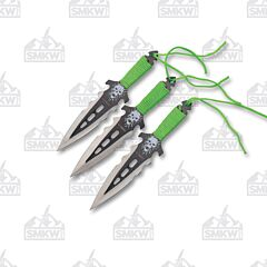 Perfect Point Z Hunter Skull Thrower Set 440 Blade Cord Wrapped Handle