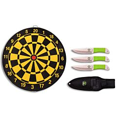 "Z Hunter Throwing Knives Set 6.5"" Overall with Target Board Model ZB-154SET"