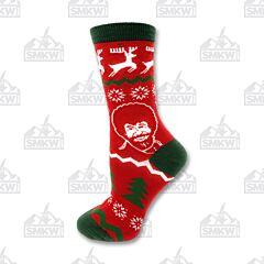 Oooh Yeah! Merry Bob Ross Women's Crew Socks