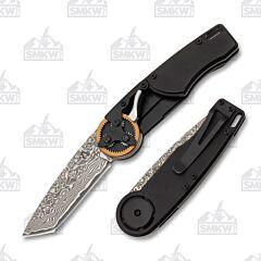 Mantis Knives 2027T Copper Gear Head Damascus Tanto