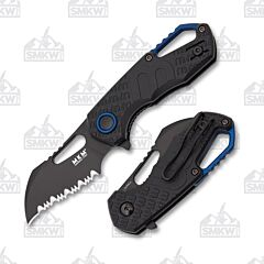 MKM Isonzo Hawkbill Serrated  Black FRN