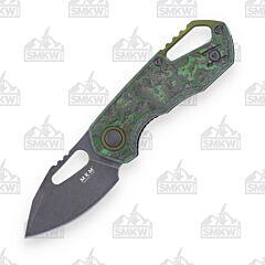 MKM Isonzo SMKW Exclusive Fat Carbon Jungle Wear Dark Stonewash Clip Point