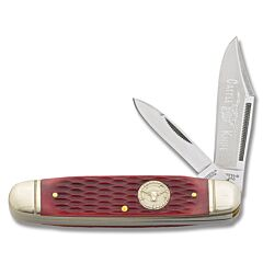 Marbles Red Jigged Bone Cattleman Knife