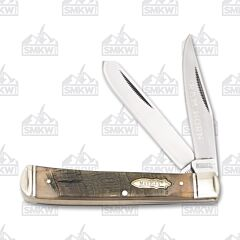 "Marbles Trapper 4.125"" with Ram Horn Handles and 440A Stainless Steel Plain Edge Blades Model MR358"