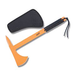 """Marbles Tactical Tomahawk 14.75"""" with Cord wrapped Handle and Orange Coated High Carbon Steel Construction"""