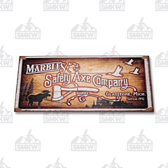 Marbles Safety Axe Company Wood Sign