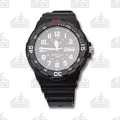 Casio Quartz Analog Black Resin Strap Watch
