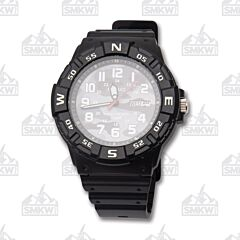 Casio Black and White Camo Analog Sport Watch