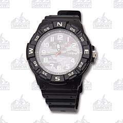 Casio Black and White Camo Analog Sport Watch