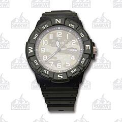 Casio Black and Green Camo Analog Sport Watch