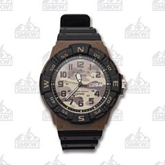 Casio Brown and Tan Camo Analog Sport Watch