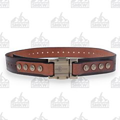 Marfione Dark Brown Buffalo Leather and Titanium Custom APIS Belt