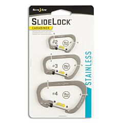 NITE IZE SlideLock Carabiner Stainless Steel 3-Pack