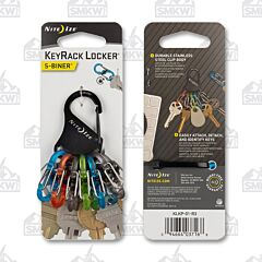 NITE IZE KeyRack Locker S-Biner Black Coated Stainless Steel Carabiner Polycarbonate MicroLock S-Biner Model KLKP-01-R3