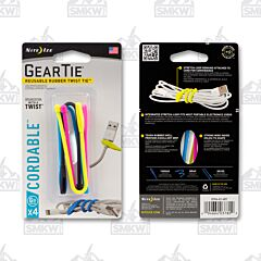 """NITE IZE Gear Tie Cordable Twist Tie 6"""" Assorted Colors 4-Pack Model GTK6-A1-4R7"""