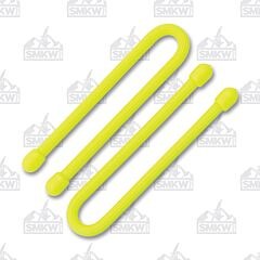 "Nite Ize 6"" Gear Ties 2-Pack Yellow Rubber"