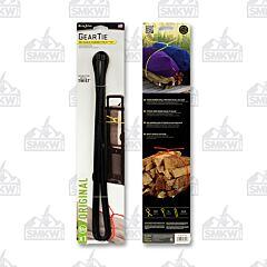 """NITE IZE Gear Tie Reusable Rubber Twist Tie 64"""" Black Model GT64-01-R6"""