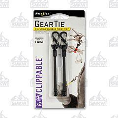 """NITE IZE Gear Tie Clippable Twist Tie 3"""" Black 2-Pack Model GLZ-01-2R7"""