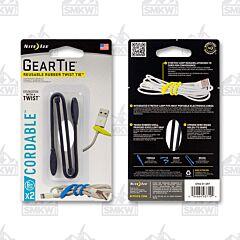 """NITE IZE Gear Tie Loopable Twist Tie 6"""" Black 2-Pack Model GLS6-01-2R7"""