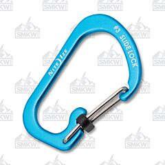 NITE IZE SlideLock Carabiner Size #3 Blue Anodized Aluminum Locking Gates