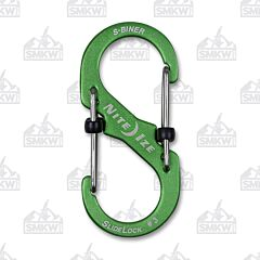 Nite Ize SlideLock S-Biner Dual Carabiner Size #3 Lime Green Model LSBA3-17-R6