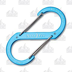 NITE IZE S-Biner Dual Carabiner #4 Blue Anodized Aluminum with Stainless Steel Gates