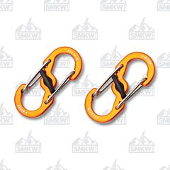 Nite Ize S-Biner Orange Microlock 2-Pack