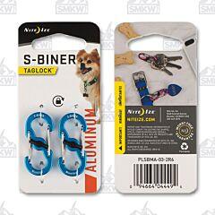 Nite Ize S-Biner Blue Taglock 2-Pack