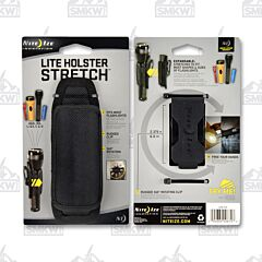 NITE IZE Light Holster Stretch Black Nylon Model LHS-03