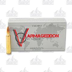 Nosler Varmageddon 223 Remington 62 Grain Flat Base Hollow Point 20 Rounds
