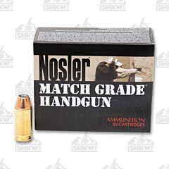 Nosler Match Grade Ammo 45 ACP 185 Grain JHP 20 Rounds