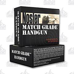 Nosler Match Grade 9mm Luger 124 gr Jacketed Hollow Point 20 Rounds