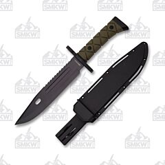 Neptune Trading Wartech Large Sawback Fixed Blade Survival Knife
