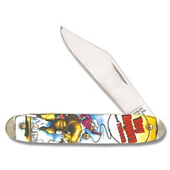 """Novelty Cutlery Roy Rogers Character Knife 3.50"""" with Acrylic Handles and Carbon Steel Plain Edge Blades"""