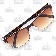 ZIPPO Gradient Brown Semi-Rimless Sunglasses Model OB12-03