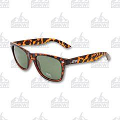 ZIPPO Green Flash Classic Wayfarer Style Sunglasses Brown Pattern Model OB21-04