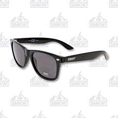 ZIPPO Smoke Flash Classic Wayfarer Style Sunglasses Solid Black Model OB21-05