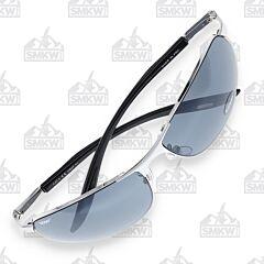 ZIPPO Wrap Sunglasses Silver Metal Frame