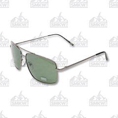 ZIPPO Pilot Sunglasses Green Flash with Smoke Metal Frame Model OB28-02
