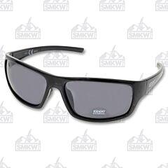 ZIPPO Full Frame Wrap Sunglasses Black Plastic