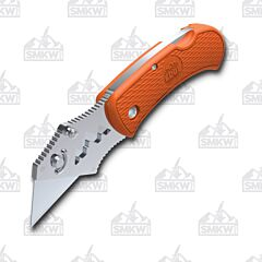 Outdoor Edge Box Opening Assistant Utility Knife with Orange Glass Reinforced Nylon Handle and Razor Blade Model BOB-10C