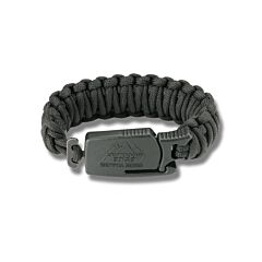 Outdoor Edge Para-Claw with Medium Black Paracord Bracelet and BlackStone Coated 8Cr13Mov Stainless Steel Blade Model PCK-80C