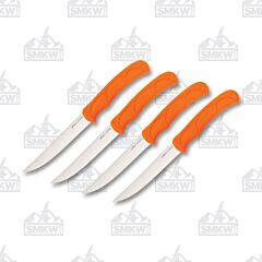 Outdoor Edge Wid Game Steak Knife Set Orange