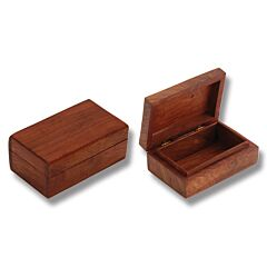 "Sisam Wood Jewelry/Trinket Box - Large (6"" x 4"")"
