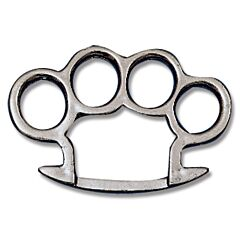 Round Edge Knuckle Belt Buckle with Gun Metal Finish
