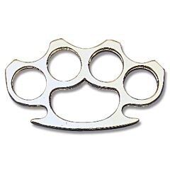 Flat Edge Knuckle Belt Buckle with Silver Finish